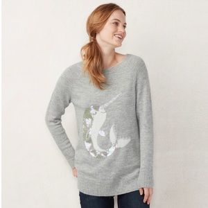 Lauren Conrad Narwhal Whale Sweater